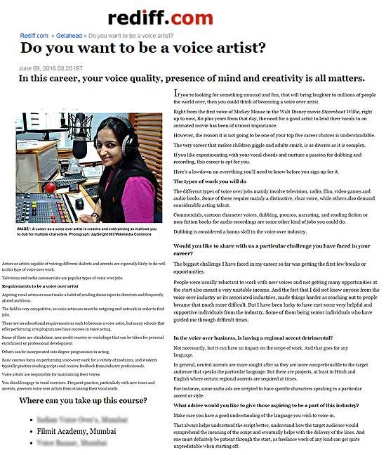 Voice Training Courses In Mumbai Voiceover Dubbing Narration Modulation